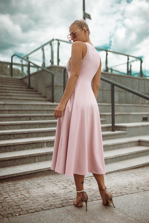 Sommer Maxi Kleid Von Bastet In Pastell Rosa Abeli Exclusive Fashion